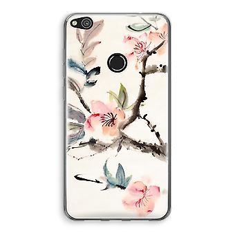 Huawei Ascend P8 Lite (2017) Transparant fall (Soft) - Japenese blommor