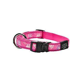 Rogz Fancy Dress Paw Design Duurzame Halsband, Roze