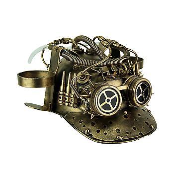 Metalen Brass Vintage Baseball helm Steampunk Cup houder hoed