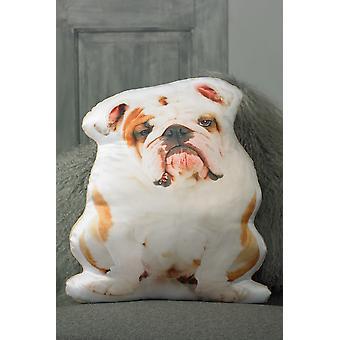 Adorable british bulldog shaped cushion