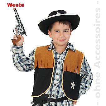 Xerife crianças fantasia faroeste colete de vaqueiro, traje de vaqueiro traje das crianças