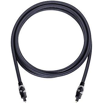 Oehlbach Toslink Digital audiokabel [1 x Toslink plugg (ODT) - 1 x Toslink koble (ODT)] 1,50 m antrasitt