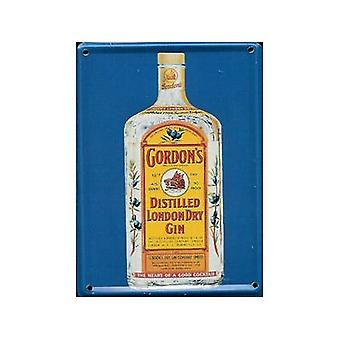 Gordons Gin metalen briefkaart / Mini Sign / Fridge Magnet