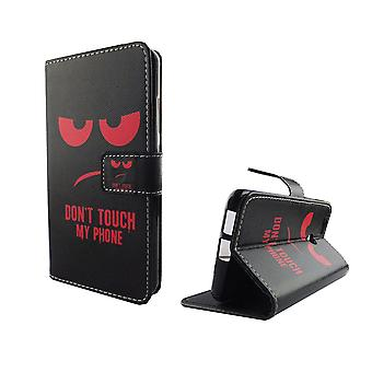 Nie dotykaj mój telefon mobilnych sprawa Huawei Nova pancernych ochrony szkła klapa koperta etui portfel