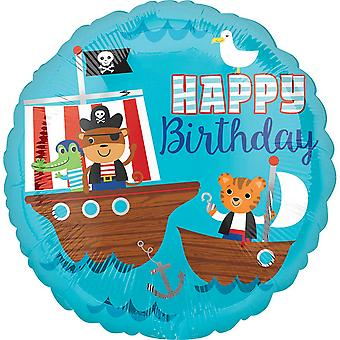 Anagram 18in Circular Pirate Ship Birthday Foil Balloon