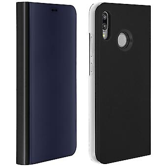 Flip Case, Mirror Case for Huawei P20 Lite, Standing Cover - Black