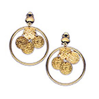Earrings gold sorted hoops coins accessory Carnival