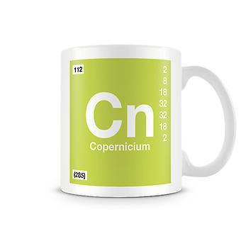 Wetenschappelijke bedrukte Mok met Element symbool 112 Cn - Copernicium