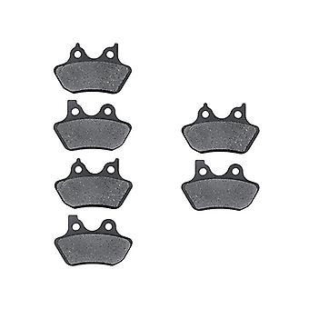 Front + Rear Brake Pads Compatible with 2002-2004 Harley V-Rod - Non-Metallic Organic NAO Brake Pads Set