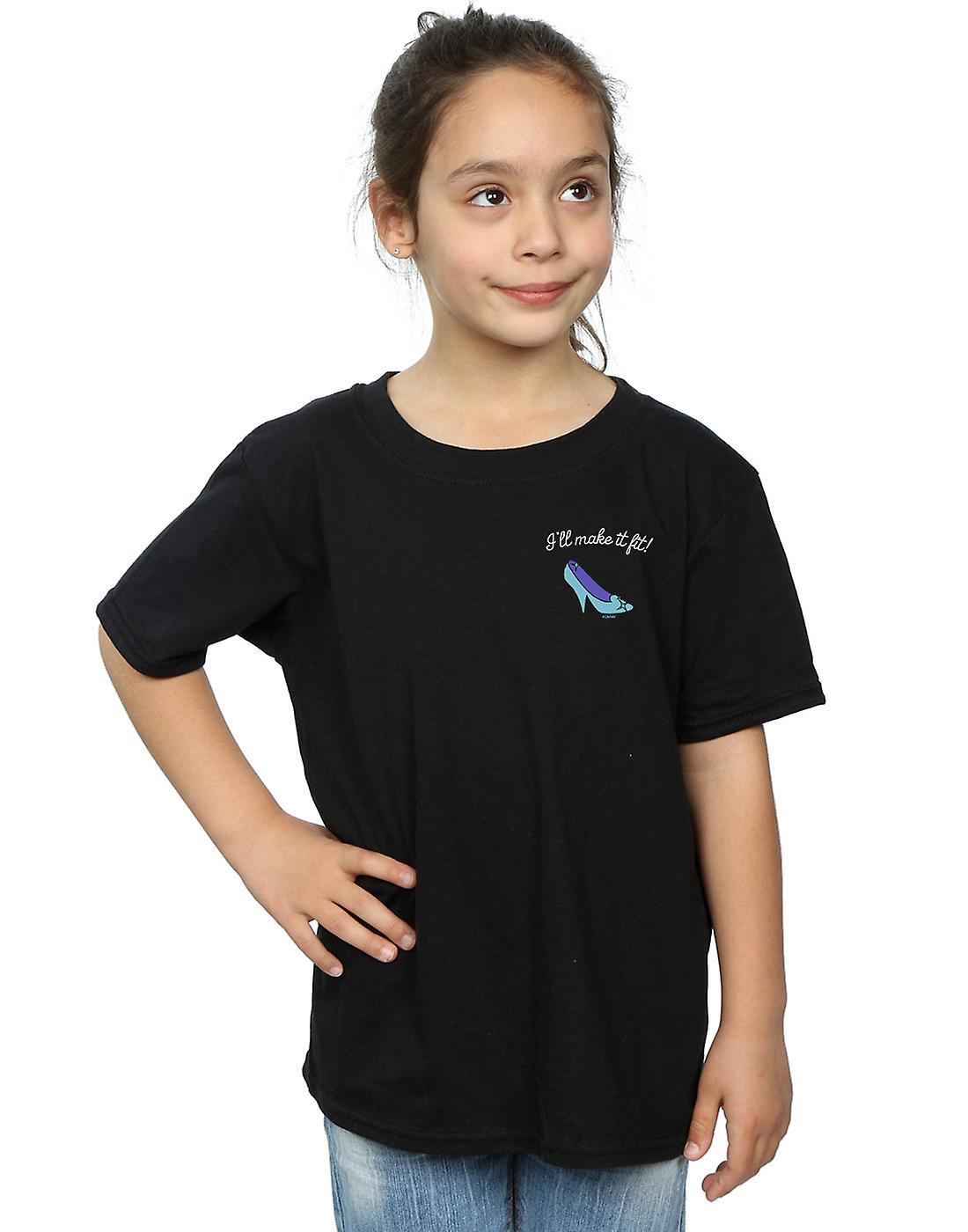 Disney Princess Girls I'll Make It Fit Breast Print T-Shirt