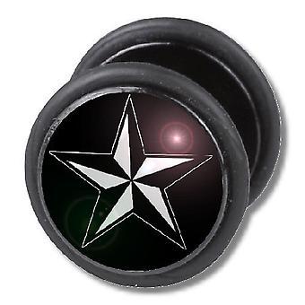 Falso traidor ouvido Plug, brinco, joias de corpo, estrela náutica