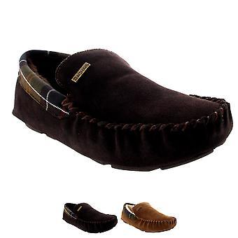 Miesten Barbour Monty mokkasiini Suede luistaa Turkista vuorattu talvi tohveli kenkä