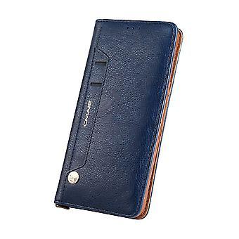 CMAI2 Litchi Monedero Caso Samsung Galaxy S8-Azul Oscuro