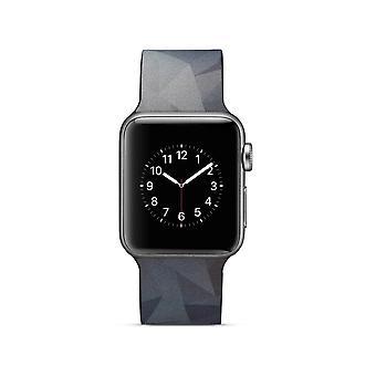 Klockrem silicone pour Apple Watch 4 40 mm, 3/2/1 38 mm-gris Triangle