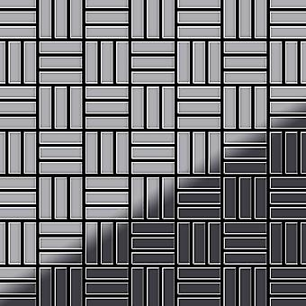 Metal mosaic Stainless Steel ALLOY Basketweave-S-S-MM