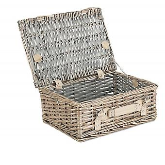 25cm Antique Wash Split Willow Wicker Basket