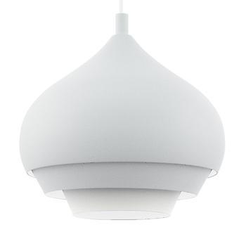 Luminaire suspendu Eglo Camborne 290 en blanc