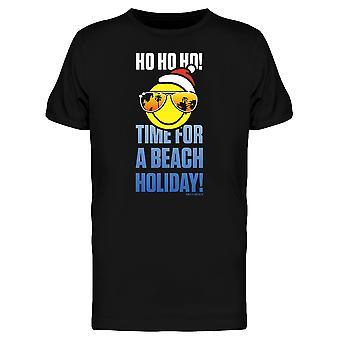 SmileyWorld Christmas Ho Ho Time For Beach Holiday Men's T-shirt