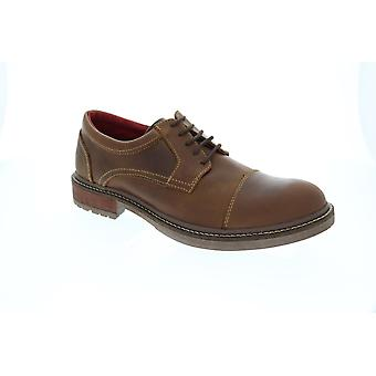 GBX Parker Cap Toe  Mens Brown Leather Casual Lace Up Oxfords Shoes