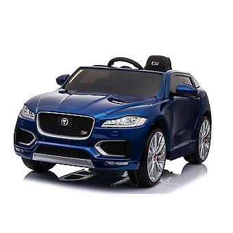 Licensed Jaguar F Pace 12V Kids Electric Ride On Car Blue