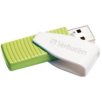Verbatim Swivel USB-Stick 32GB Groen/Wit