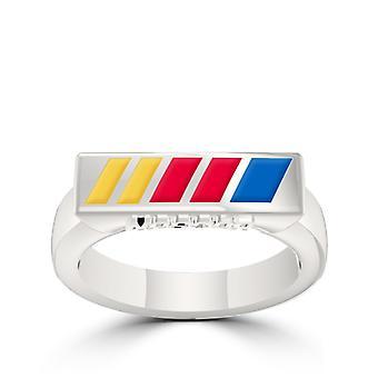NASCAR ring in Sterling Zilver ontwerp door BIXLER