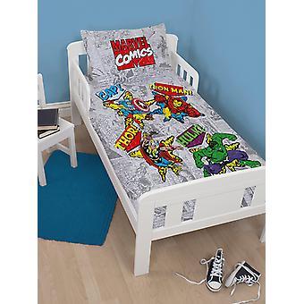 Marvel Comics retro 4 i 1 junior sängkläder Bundle