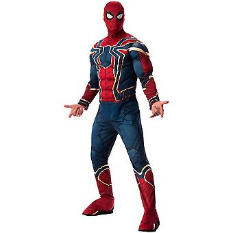 Traje adulto da aranha de ferro