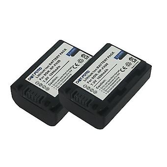 2 x Dot.Foto Sony NP-FH40, NP-FH50 Replacement Battery - 7.2v / 1050mAh