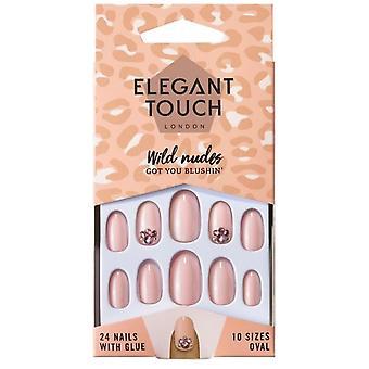 Elegant Touch Wild Nudes False Nails Collection - Got You Blushin (24 Nails)