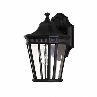 1 luce Lanterna piccola parete esterna leggera nero IP44