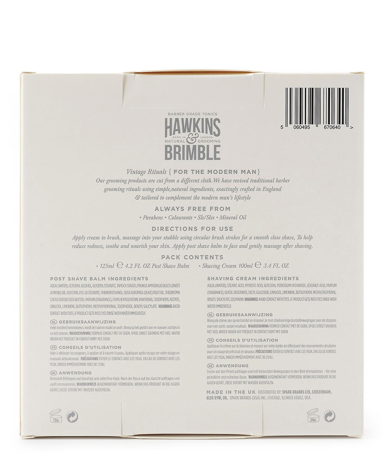 Hawkins & Brimble Grooming Gift Set 2pc (Shave Cream & Post Shave Balm)