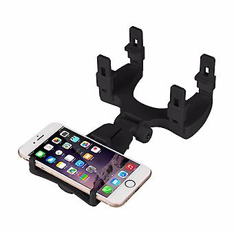 Mobile holder with rear view mirror bracket for the car