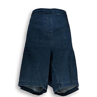 Isaac Mizrahi Live! Women's Plus Shorts 24WP Petite Bermuda Blue A306550