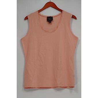 Kathleen Kirkwood top Goldilocks Scoop nek verfraaid tank roze A230092