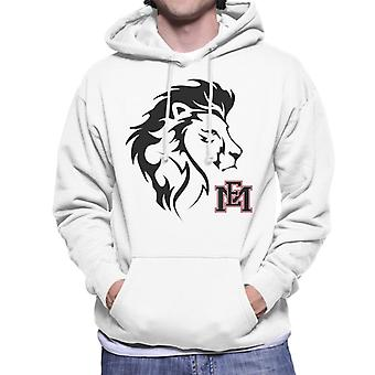 East Mississippi Community College Lion Head Logo Men's Hooded Sweatshirt