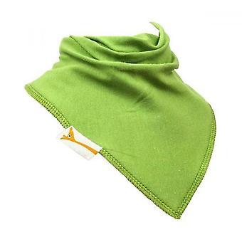 Lime green plain bandana bib