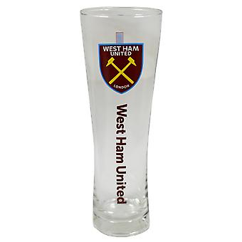 West Ham United FC Official Wordmark Crest Peroni Pint Glass