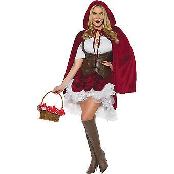妇女 红帽豪华服装