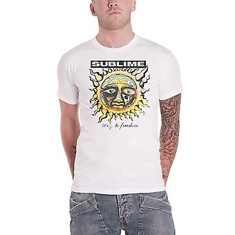 Sublime T Shirt 40oz To Freedom Band Logo new Official Mens White