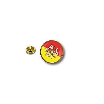 Pins Pin Badge Pin's Metal Biker Motard Drapeau Sicile Sicilia Sicily