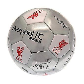 Liverpool FC Silver Signature Football - Größe 5