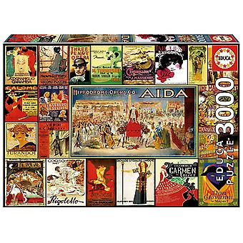 Educa borras - collage of opera's - 3000 piece jigsaw puzzle