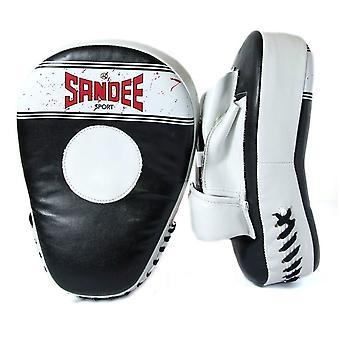 Sandee Sport gebogen Fokus Handschuhe schwarz/weiß