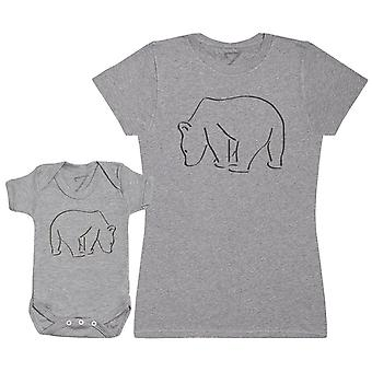 Bear And Mama BearBaby Bodysuit & Mum T-Shirt