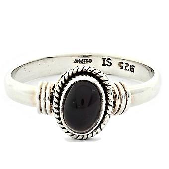 Ring 925 Silber mit Onyx 59 mm / Ø 18.8 mm (KLE-RI-019-03-(59))