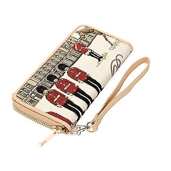 Royal guard long zip rfid money wallet by signare tapestry / lzip-rgd