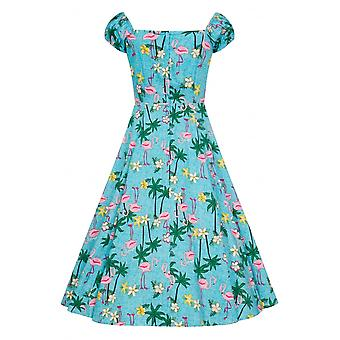 Collectif Tropical Flamingo Dolores Swing Dress