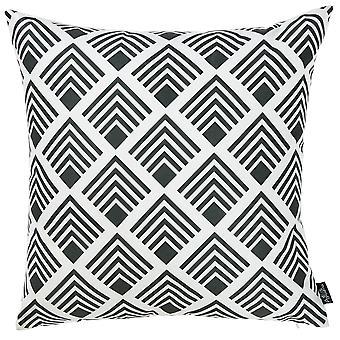 "18""x 18"" Tropical Squares Printed Decorative Throw Pillow Cover"