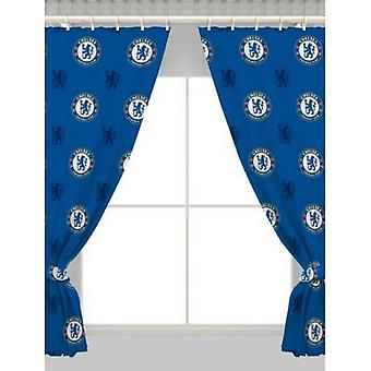 Chelsea FC Repeat Crest Curtains
